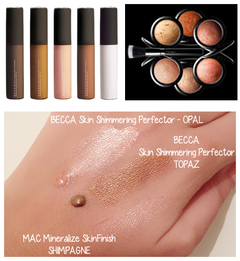 Becca Skin Shimmering Perfectors - MAC Mineralize SkinFinish