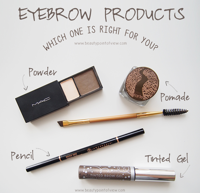 Eyebrow Products Beauty Point Of View