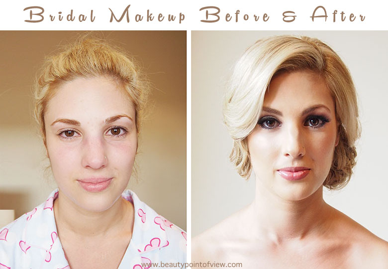 Bridal Makeup Pictures Before And After : Bridal Makeup Before and After - Beauty Point Of View