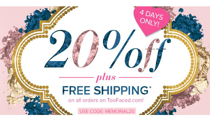 Too Faced Cosmetics Memorial Day Sale