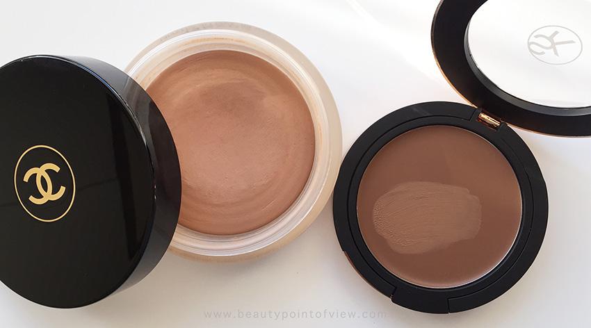 Chanel Tan De Soleil vs Sonia Kashuk Creme Bronzer