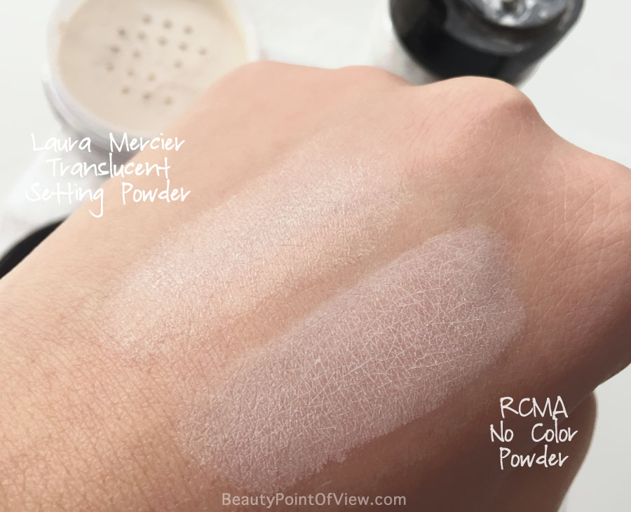 Laura Mercier Translucent Powder vs RCMA No Color Powder