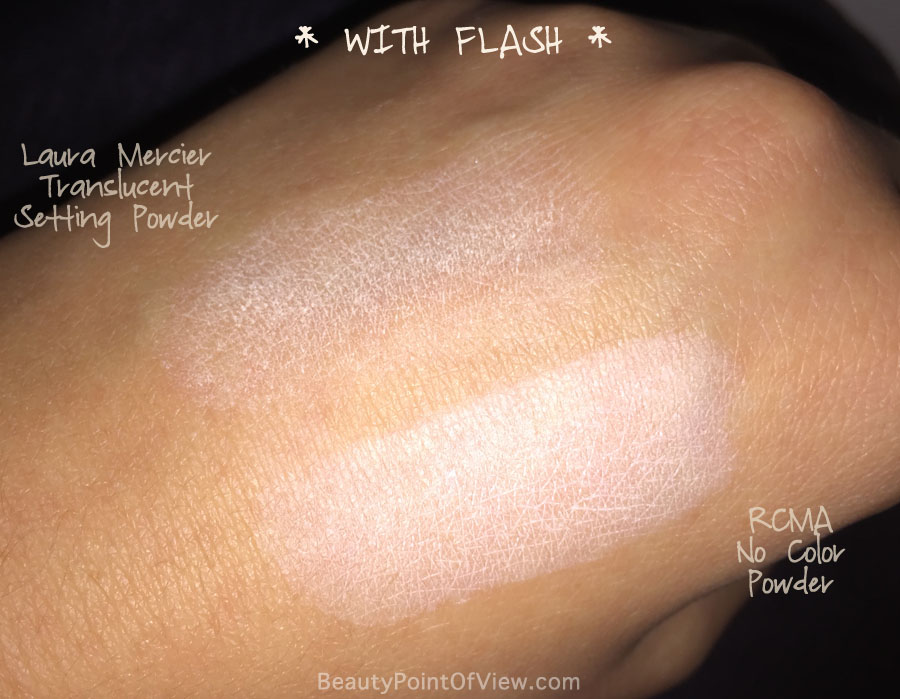 Laura Mercier Translucent Setting Powder vs RCMA No Color Powder