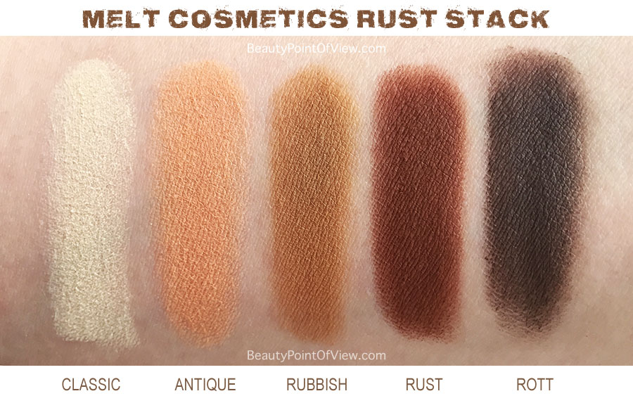 Melt Cosmetics Rust Stack