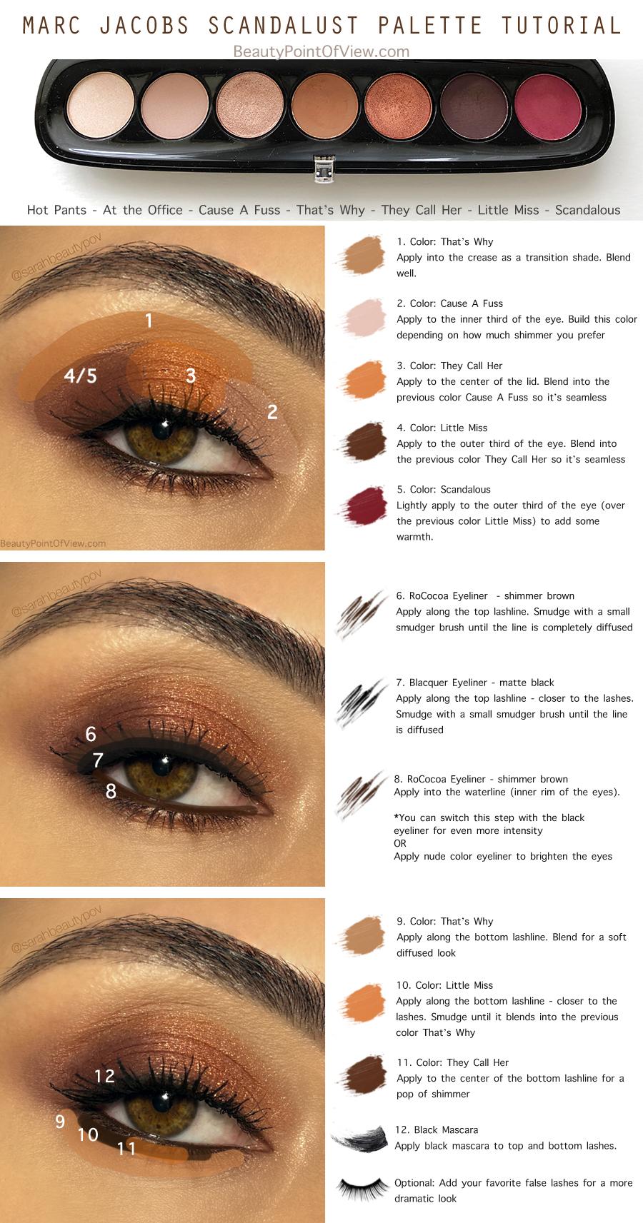 Small deep set eyes makeup