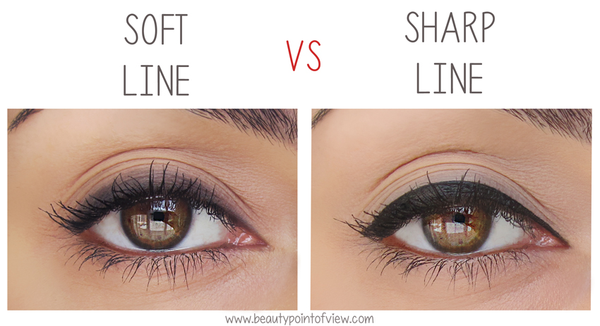 Eyeliner Soft Line Vs Sharp Line Beauty Point Of View