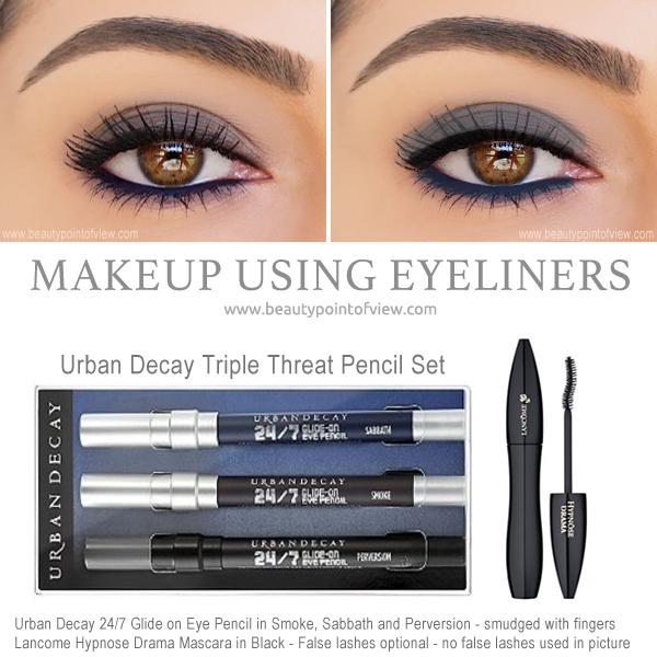 Makeup Tutorial Using Eyeliners